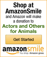Shop at AmazonSmile and Amazon will make a donation to Actors and Others for Animals!