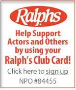 Support Actors and Others by using Your Ralph's Card