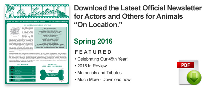 Latest Actors and Others Newsletter