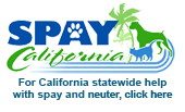 SpayCalifornia, a state-wide referral network/database to connect people throughout the State of California with participating programs and veterinarians offering low cost spay/neuter services.